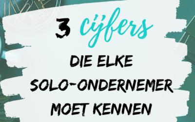 3 cijfers die elke solo-ondernemer moet kennen